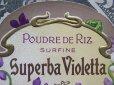 画像4: アンティーク すみれのパウダーボックスのラベル SUPERBA VIOLETTA-MONPELAS PARIS- (4)
