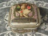 アンティーク 薔薇のパウダーボックス FRIMOUSSE D'OR-LORENZY-PALANCA PARIS-