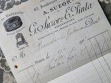 1912年 アンティーク メルスリーの注文書 FIL AU PATRIOTE-A.SUZOR G.SUZOR&E.PINTA-