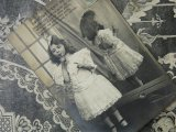 アンティークポストカード 真っ白なドレスの少女