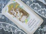 ★5周年セール対象外★アンティーク 天使とミモザのパフュームカード PARFUM MIMOSA TRIANON -GELLE FRERES-