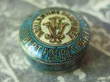 未使用 1900年代 アンティーク ヘリオトロープのヘアークリーム入り メタルケース LA NIVOLEINE -VIBERTFRERES PARIS-