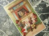 アンティーク クロモ  人形劇に野次を飛ばす少女たち ARTISTE SIFFLE -CHOCOLAT GUERIN BOUTRON-