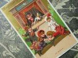 アンティーク クロモ 大騒動の人形劇 UN DRAME -CHOCOLAT GUERIN BOUTRON-