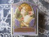 未使用 アンティーク 薔薇のパウダーボックス FRIMOUSSE D'OR -LORENZY-PALANCA PARIS-