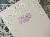 1900年代 アンティーク メニュー MENU 薔薇のガーランド ピンクの縁取り