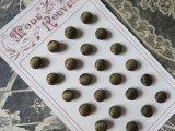19世紀末 アンティーク くるみボタン カーキ色  24ピース