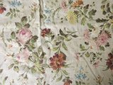 19世紀末 アンティーク ファブリック 薔薇 200 × 150cm