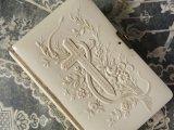 1901年 アンティーク 薔薇のブーケ&クロス  聖書 ミサ典書 セルロイド製
