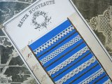 1875年 アンティーク 手編みのレースのサンプル サンプラー