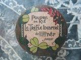 ★5周年セール対象外★アンティーク パウダーボックス クローバー POUDRE DE RIZ LE TREFLE INCARNAT -L.T.PIVER-