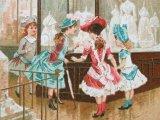 ★5周年セール対象外★アンティーク クロモ パリ万博のランジェリー売り場 LA VITRINE DE LINGERIE-AU BON MARCHE-