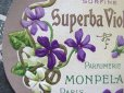 画像2: アンティーク すみれのパウダーボックスのラベル SUPERBA VIOLETTA-MONPELAS PARIS- (2)