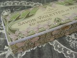 アンティーク 菫のソープボックス SAVON VIOLETTES DE PARME-ED.PINAUD PARIS-