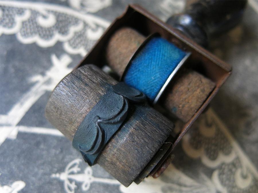 画像3: アンティーク 刺繍図案用 小さなローラースタンプ