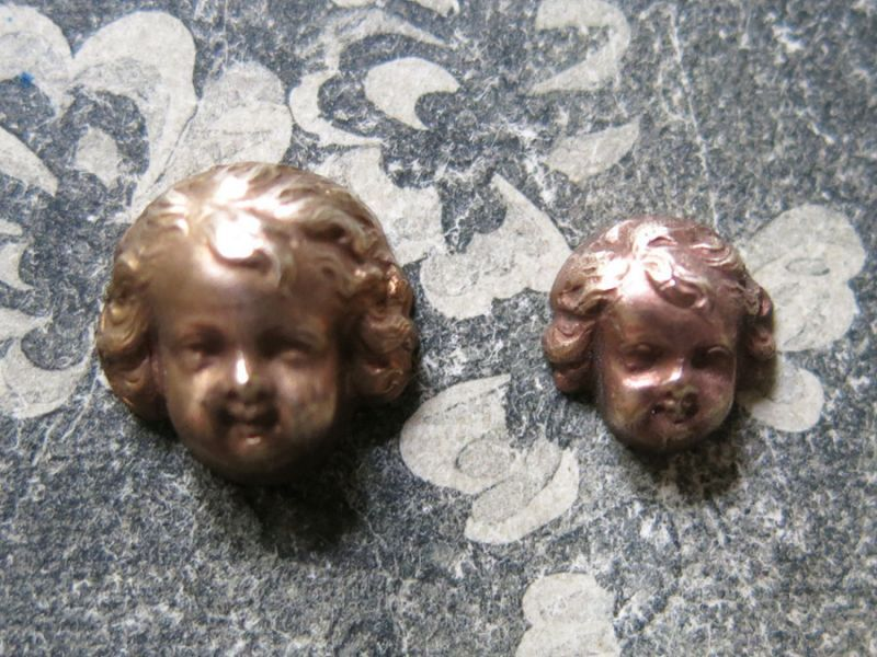 画像1: アンティーク メタル製 小さな天使 ジュエリー用 モチーフ