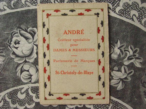 1929年 アンティーク 黒薔薇のパフュームカード見開き型 OFFRANDE-CHERAMY PARIS-