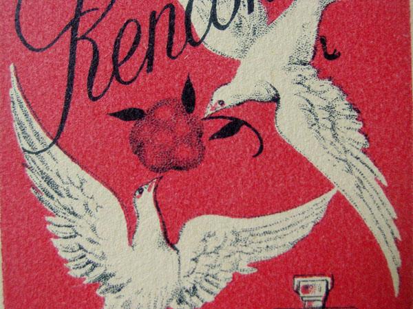 アンティーク パフューム カード 白い鳥と薔薇 RENCONTRE-J GIRAUD FILS PARIS-