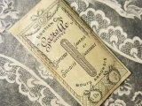 アンティーク 襟芯入り リボンのガーランドの小さな紙袋