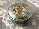 1900年代 アンティーク ヘリオトロープのヘアーワックスとても小さなメタル缶 LA NIVOLEINE -VIBERTFRERES PARIS-
