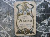 アンティーク パフュームカード PARFUM VELDOR -VIOLET PARFUMEUR PARIS-