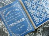 アンティーク レースの図案帳 CORDONNET-A-LA CROIX-CARTIER BRESSON A PARIS-