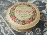 未開封 アンティーク 薔薇のパウダーボックス POUDRE DE RIZ DES PRINCESSES -MAUBERT PARIS-