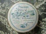 アンティーク 燕のパウダーボックス POUDRE DE RIZ l'ETONNANTE -H.FLAGET PARIS-
