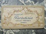 アンティーク 天使と薔薇のガーランドのパフュームカード PARFUM PARADISIA -GELLE FRERES PARIS-