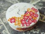 未使用 アンティーク 蝶々と花のパウダーボックス NOUVELLE POUDRE SIMON-CREME SIMON PARIS-