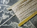 19世紀末 アンティーク 金糸の編み込み シルク製トリム 9.3m