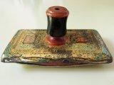 アンティーク 糸メーカー『LA SOIE』のインクブロッター 糸巻きの持ち手 インク吸い取り器