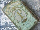 アンティーク プランタン 薔薇のガーランド&モノグラム 小さな糸箱 GRANDS MAGASINS DE NOUVEAUTE -AU PRINTEMPS-
