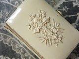 1889年 アンティーク クロス&葡萄の木&麦の穂  聖書 ミサ典書 セルロイド製