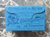 1900年代 アンティーク エパングルの紙箱 EPINGLES EN ACIER EXTRA FINES - LE CHARDON -