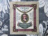 アンティーク ルイゼット 美容クリームのラベル CREME DE BEAUTE LOUISETTE -MAUBERT PARIS-