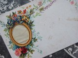 アンティークポストカード 草花のフォトフレーム付き CORRESPONDANCE